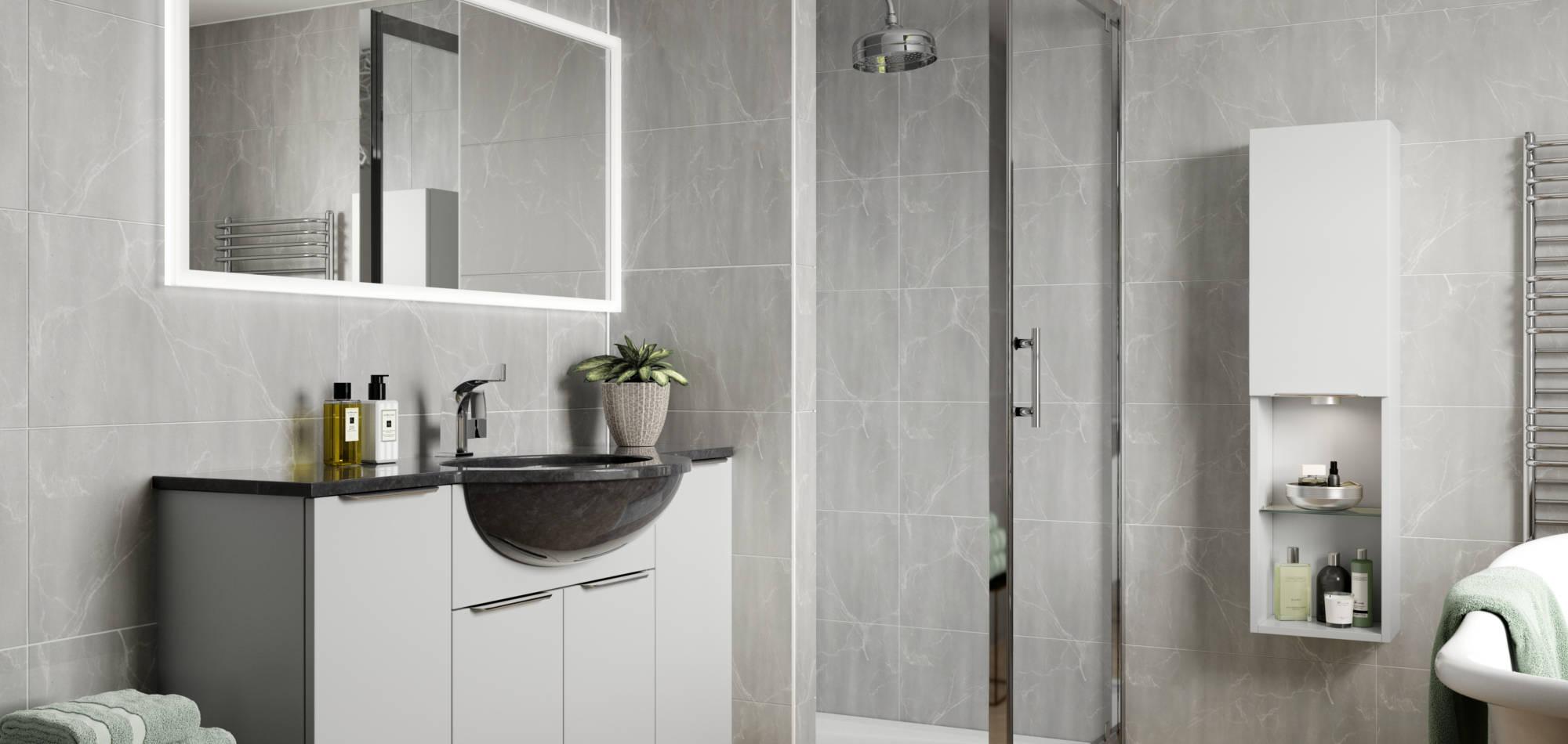mereway bathrooms adriatic light grey matt