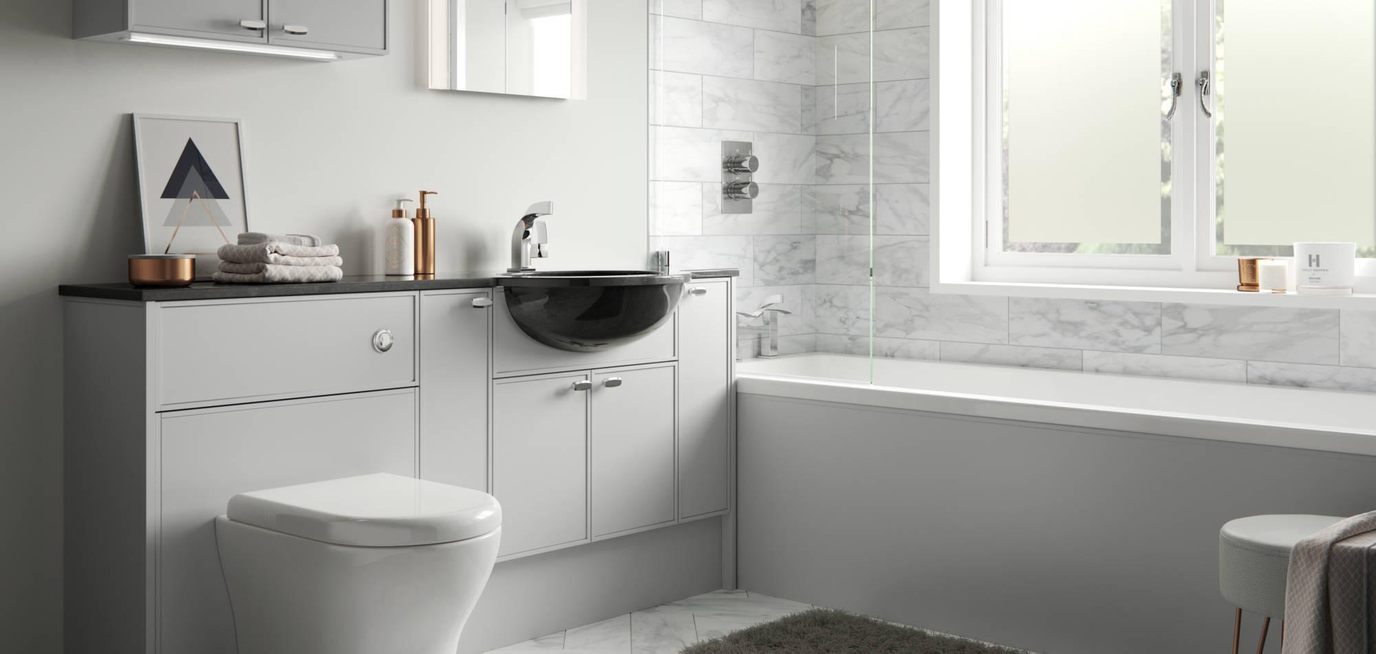 mereway bathrooms ely light grey