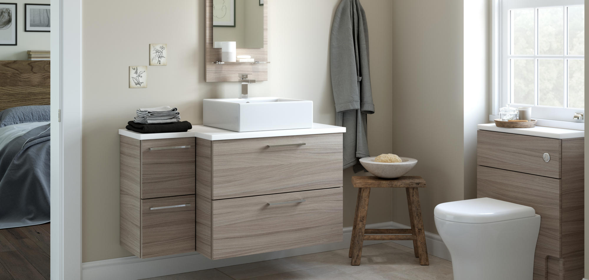 mereway bathrooms java driftwood