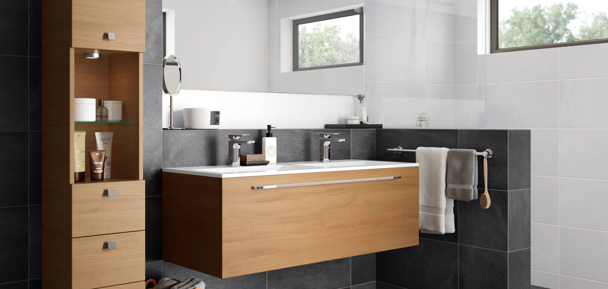 mereway bathrooms java light oak