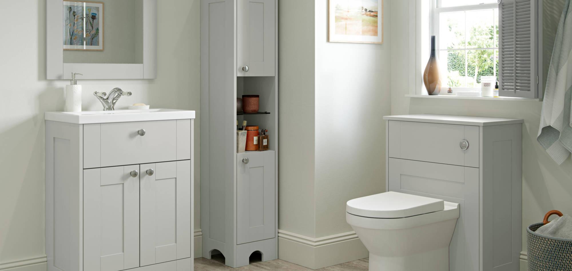 mereway bathrooms light grey matt