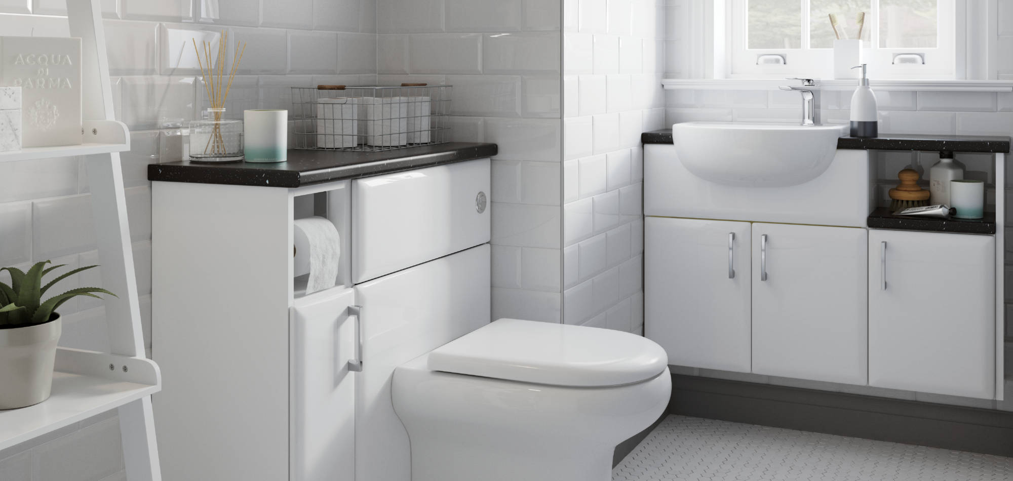 mereway bathrooms pacific white gloss