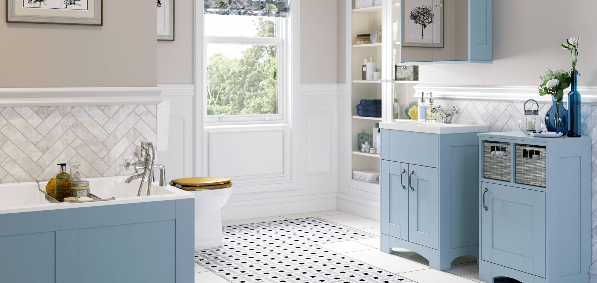 mereway bathrooms sky blue matt