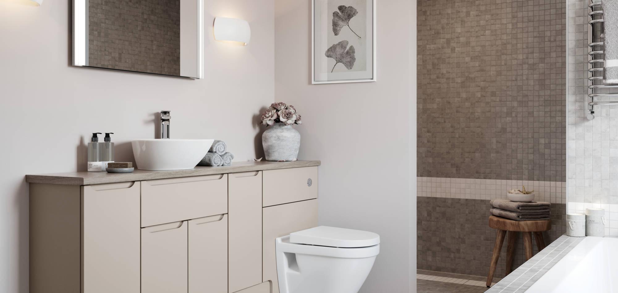mereway bathrooms tirare cashmere matt