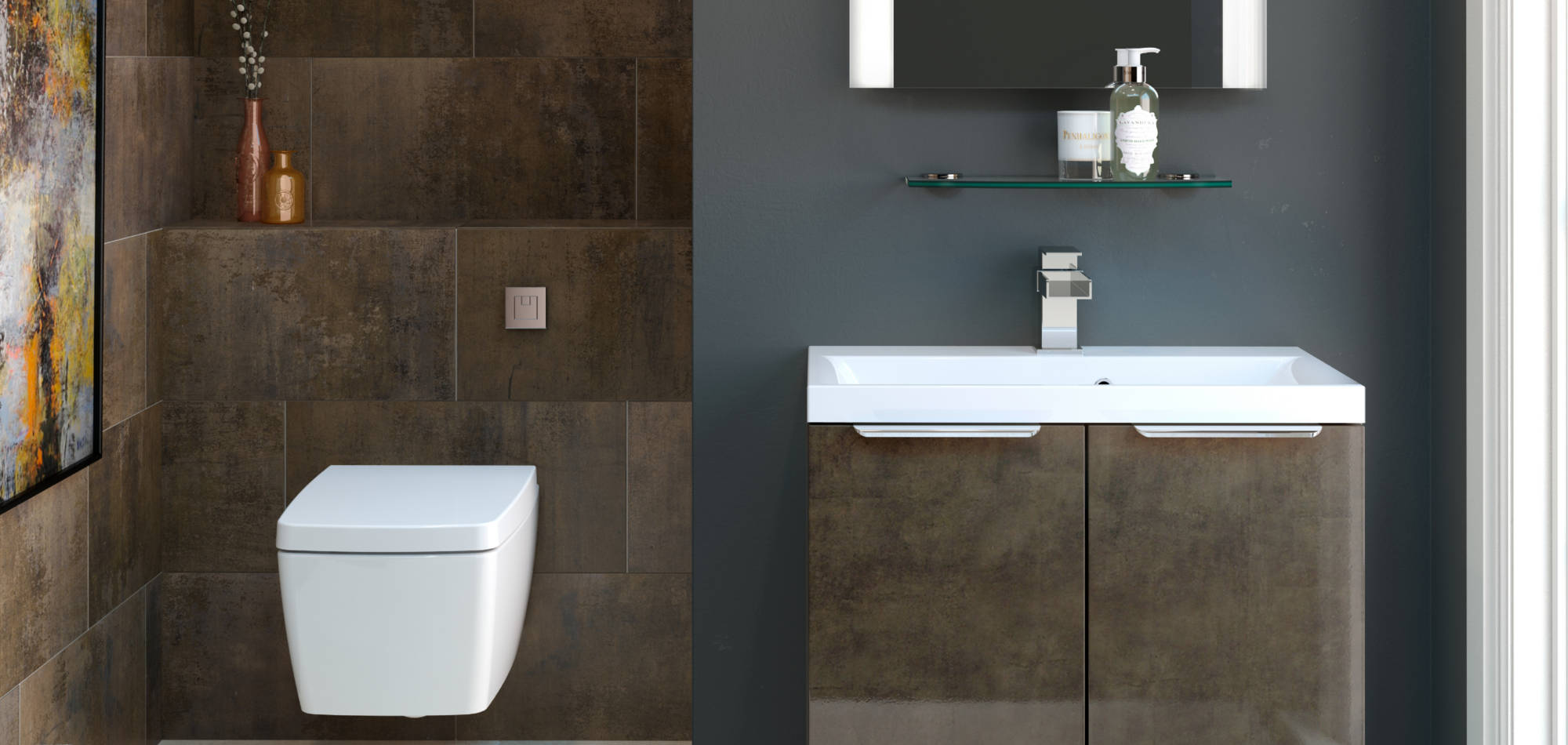 mereway bathrooms vogue bronze gloss