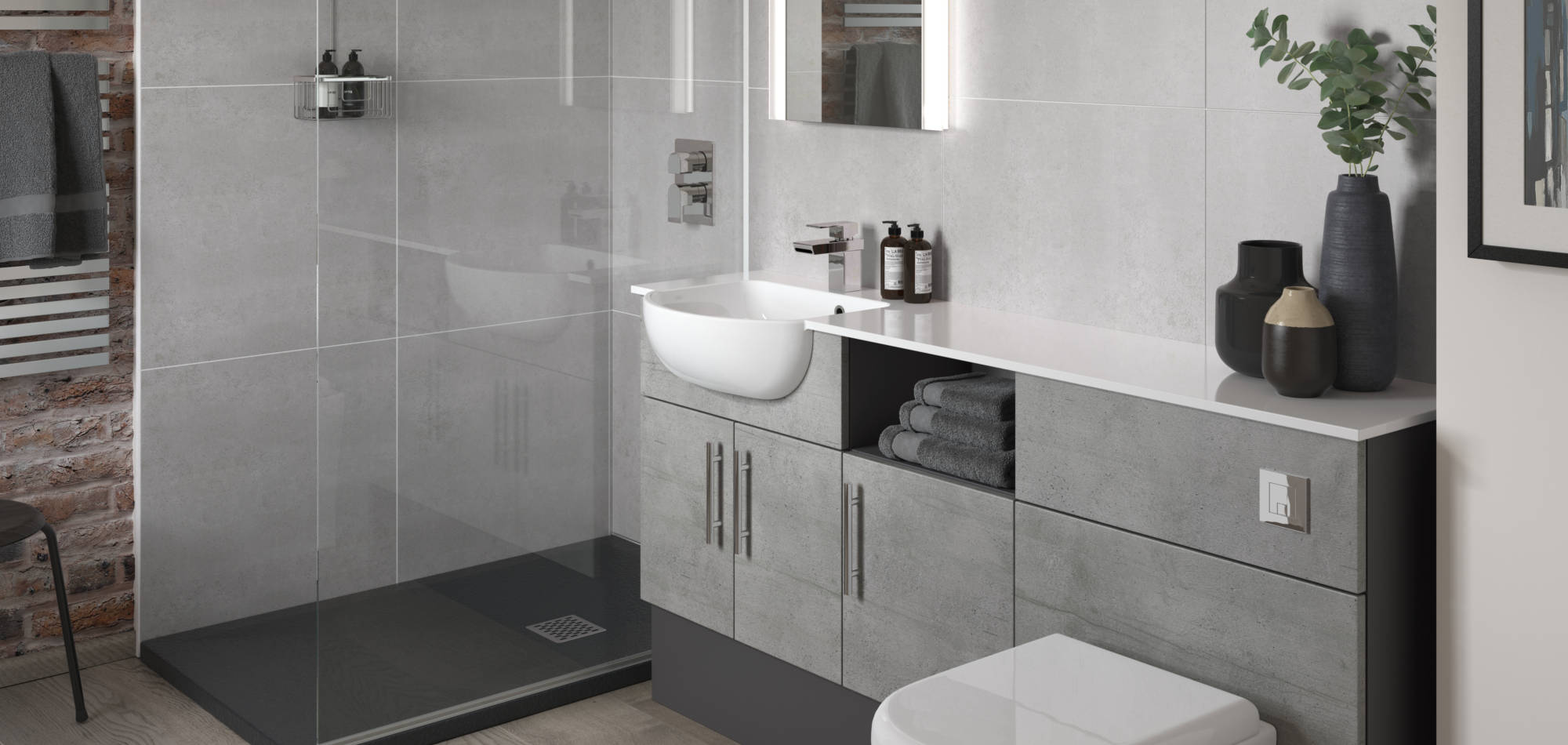 mereway bathrooms vogue concrete oak