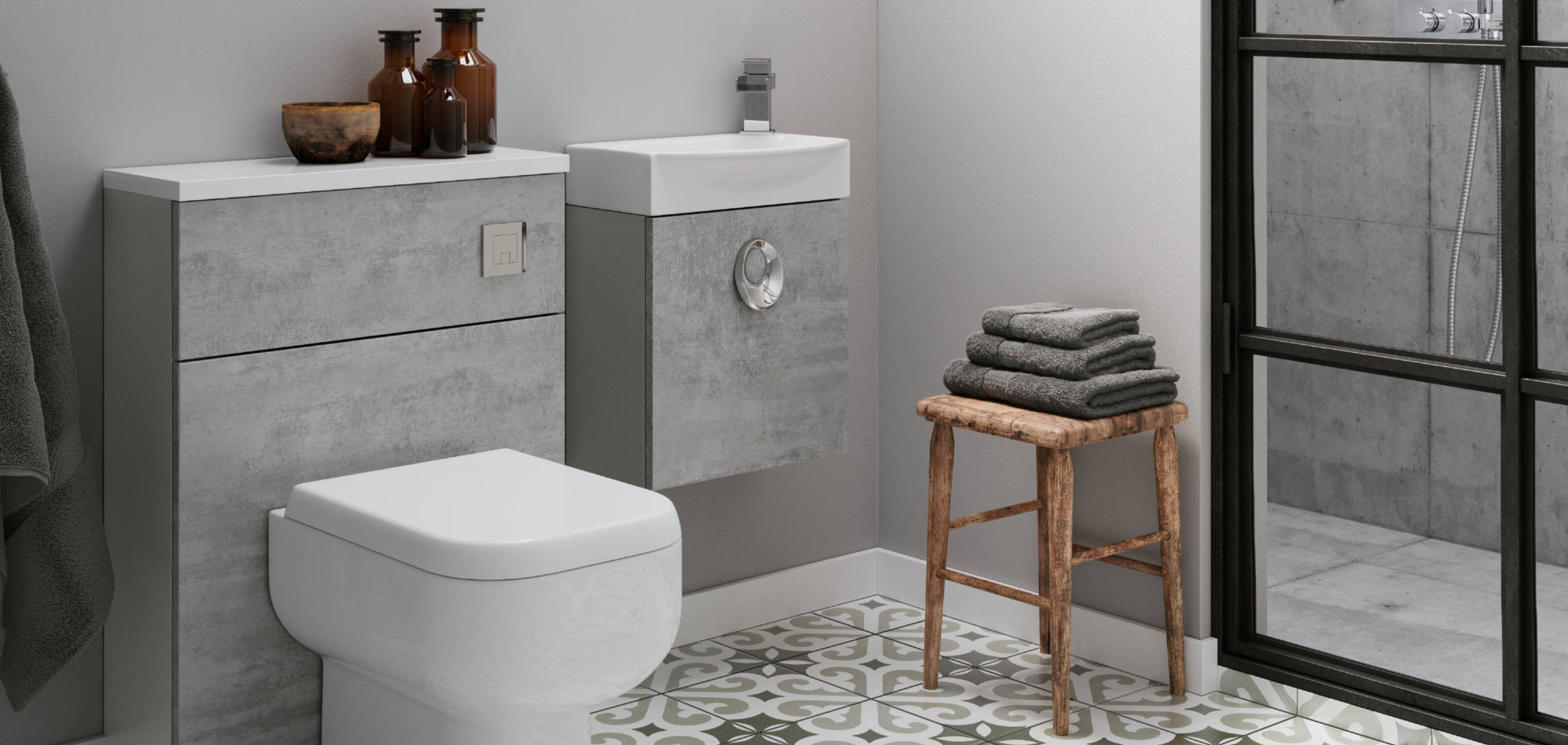 mereway bathrooms vogue concrete