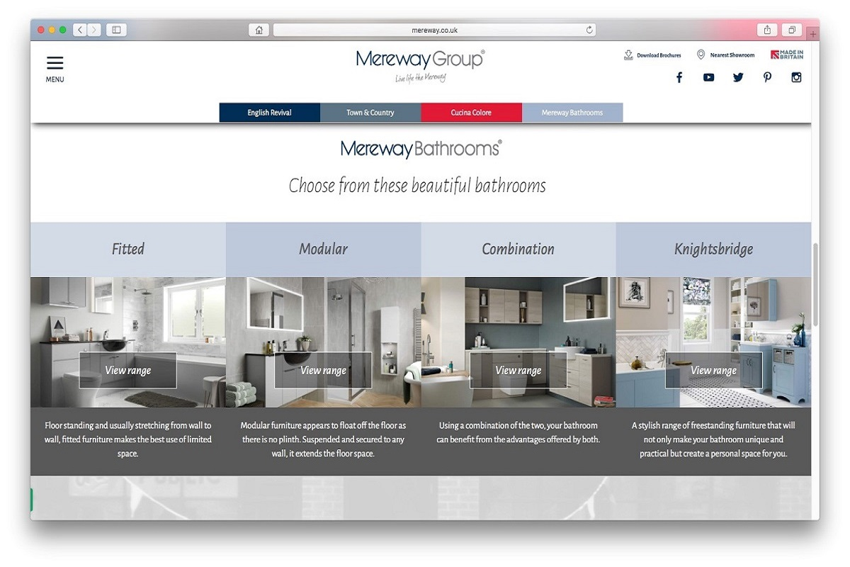 Inspirational Kitchens And Bathrooms From The New Mereway Website ...